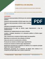 Bolivia Estadistica Esp