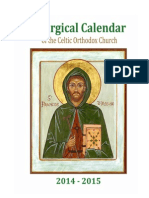 2014-2015 Liturgical Calendar