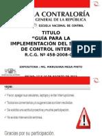 PPT Guía de Implementación Del SCI Clases 17 y 24 Agosto