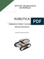 Trasductores y Actuadores en La Robotica