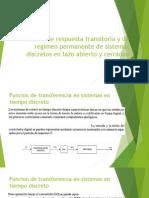 Analisis de Respuesta Transitoria y de Regimen Permanente