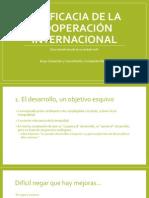 La eficacia de la cooperación internacional