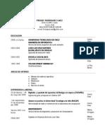 Curriculum Freddy Rodriguez Saez