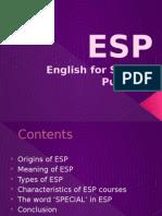 Esp Englishforspecificpurposes