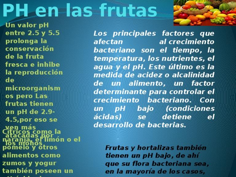 Frutas de el ph las