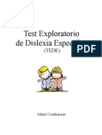 Test Exploratorio de Dislexia Especifica TEDE