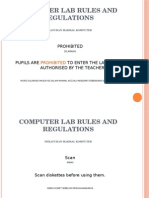 Computer Lab Rules and Regulations