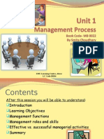 Unit 1 Management Process
