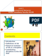 Unit 2 Organizational Behavior