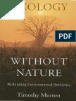 Timothy Morton Ecology Without Nature Rethinking Environmental Aesthetics