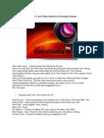Edit Video Menggunkan Corel Video Studio Pro X4 Untuk Pemula