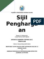 Sijil Penghargaan ALC Kolej