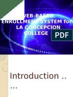 Web-based Enrollment System For