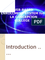 Web-based Enrollment System For