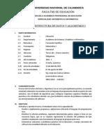 00 Silabo de Estructura de Datos y Algoritmos i