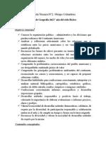 Planificacion Anual  y Programa de Geografia del 2° año del Ciclo Basico