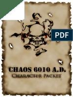 Chaos 6010 AD Character Packet