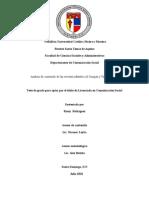 Analisis de Contenido de Las Revistas Infantiles Al Compas y Tinmarin 2010