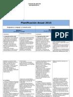 Planificación Anual Lenguaje 2º Ciclo 2015