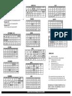 Calendario Escolar 2015 UAM