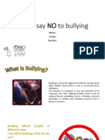 We All Say NO to Bullying