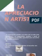 LA  APRECIACION ARTISTICA 20.pptx