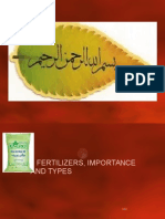 Fertilizers, Importance and Types