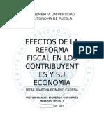 Efectos de la Reforma Fiscal en los Contribuyentes y su Economia