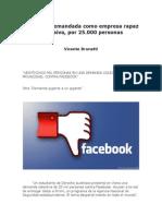 Facebook demandada como empresa rapaz y abusiva, por 25.000 personas - Vicente Brunetti