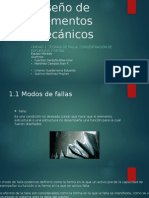Diseño de elementos mecánicos, fallas y teorías de falla
