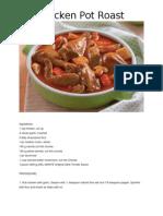 Chicken Pot Roast - Come Home to Del Monte