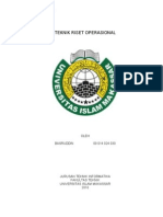 Teknik Riset Operasional (operational research)