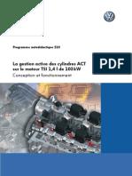 SSP 510 (La Gestion Active Des Cylindres ACT Sur Le Moteur TSI 1,4 l de 103kW)