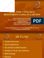 Real Time Vital Sign Monitoring Using NI Labview