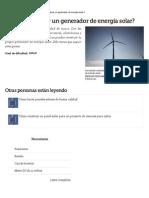 ¿Cómo Construir Un Generador de Energía Solar_ _ EHow en Español