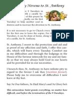 9-Tuesday Novena to St. Anthony