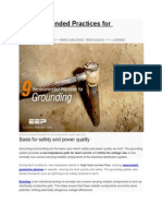 9 Recommended Practices for Grounding