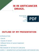 Cisplatin in anticancer drugs