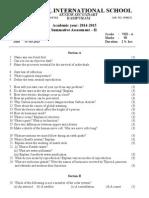 Summative Assessment - Class - 7 and 8
