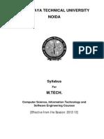 Final MTech CS_IT_SW Syllabus (MTU)