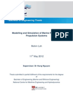 Modelling and Simulation of Marine Power and Propulsion Systems