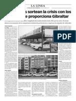 150420 La Verdad- Los Taxistas Sortean La Crisis Con Los Clientes Que Proporciona Gibraltar
