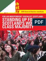 Scottish Socialist Party launches 2015 manifesto