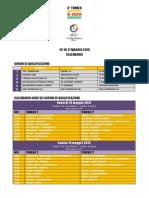 Calendario Coppa Italia Open U11 - 2015