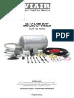 Viair UltraLight Airsystem user manual