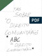 ABC Do Direito Comunitário