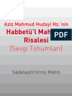 Habbet'ul Mahabbe - Aziz Mahmud Hudayi