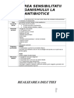 Testarea La Antibiotic