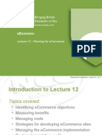EB - Lecture 12 - Planning for ECommerce