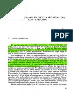 Lírica y Sociedad en La Grecia Arcaica - López